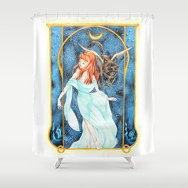 Lover of the Moon Shower Curtain
