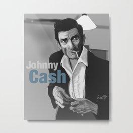 Johnny Cash Class Metal Print
