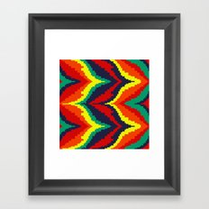 Fiery Waves Framed Art Print