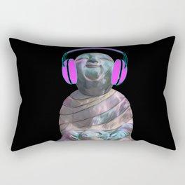 Happy Sitting Buddha Rectangular Pillow