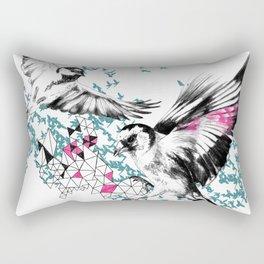 One Fell Swoop, Teal & Pink Rectangular Pillow