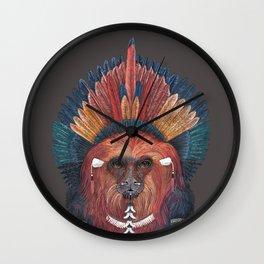 Monkey Tribal Wall Clock