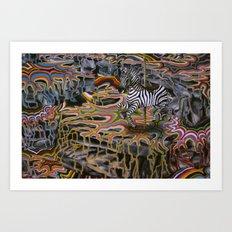 Rainbow ride Art Print
