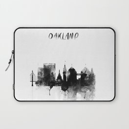 Oakland Black and White Skyline poster Laptop Sleeve