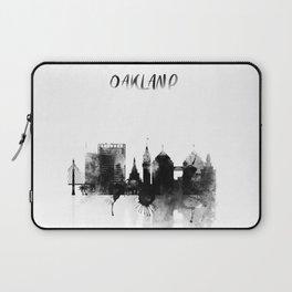 Oakland Black and White Skyline poster Laptop Sleeve