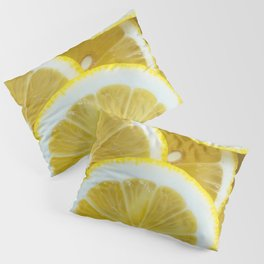 Yellow Watercolor Lemon Pillow Sham