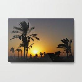 Sunset in Holy Land Metal Print