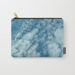 Fluffy clouds in a blue sky Carry-All Pouch