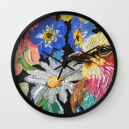 Lilac-breasted roller Wall Clock