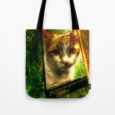 Daisy Cat Tote Bag