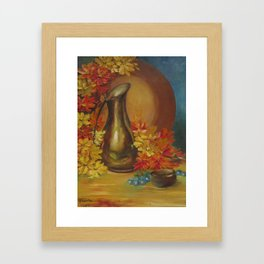 Still Life Vase and Flowers Framed Art Print