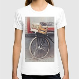 Bicycle, Wood Crate T-shirt