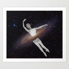 Ballerina Galaxy Art Print