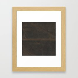 Vintage leather texture Framed Art Print