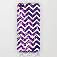 Purple Blur Sparkle Chevron iPhone & iPod Skin