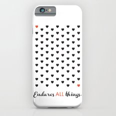 Love Endures All (Blk/Red) iPhone 6s Slim Case