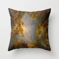 baroque Throw Pillows featuring Baroque by Tori Beretta