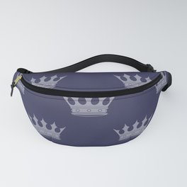 Royal Blue with Light Blue Crowns Fanny Pack