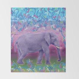 Extraordinary Little (Big) Elephant Throw Blanket
