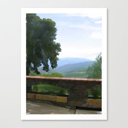 Hills in France Canvas Print