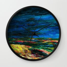 1912 Classical Masterpiece Stormy Sea Herbstmeer XIX by Emil Nolde Wall Clock