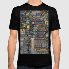 Closed Books MEDIUM Mens Fitted Tee Black