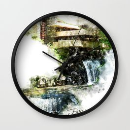 Fallingwater High, Watercolor Wall Clock