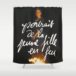 de la jeune fille en feu Shower Curtain