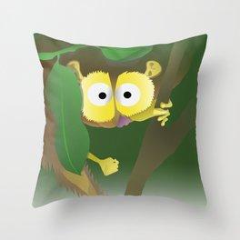 Slender Loris Throw Pillow