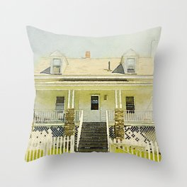 Pemaquid Point Lightkeepers House, Maine Throw Pillow