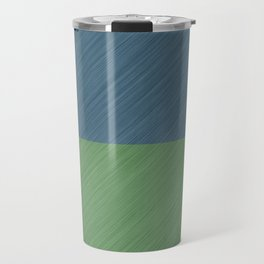 Abstract blue, green art - a simple striped pattern Travel Mug