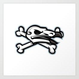 Vulture Skull Mascot Art Print