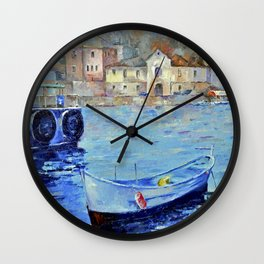 Lonely boat Wall Clock