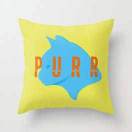 Purr Throw Pillow