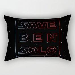 Save Ben Solo Kylo Ren The Dark Side Starwars Reylo Jedi Rectangular Pillow