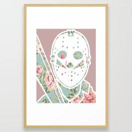 Floral Jason Friday the 13th Framed Art Print