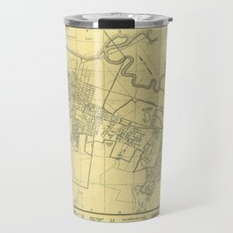 San Mateo, Burlingame, Hillsborough, San Carlos, Belmont Map 1938 Travel Mug