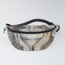 The Withering Spring I | nude tattoo woman portrait Fanny Pack