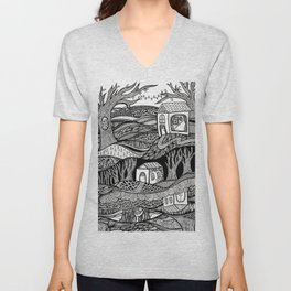 Two Worlds Unisex V-Neck