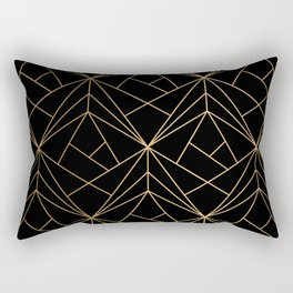Elegant geometric copper black Rectangular Pillow