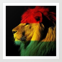 Afrique Kings Art Print