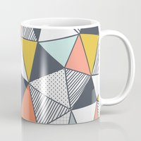 triangles Mugs featuring Triangles by Patterns and Textures
