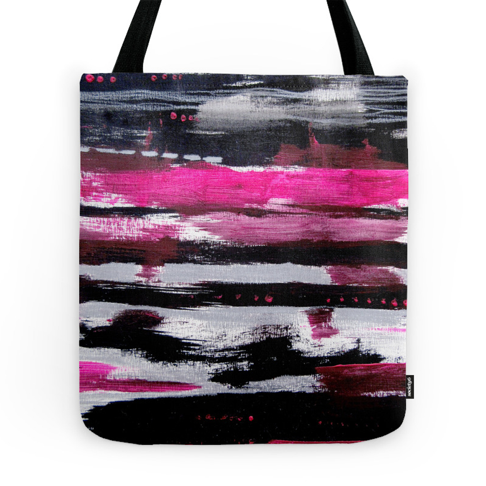 Pink & Black Tote Purse by szilvi (TBG7405716) photo