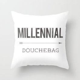 Millennial Douchebag Hipster Typography Vintage Artisan Design Throw Pillow