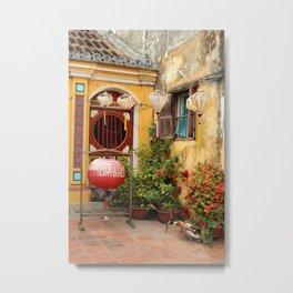 lantern workshop-cum-temple Metal Print