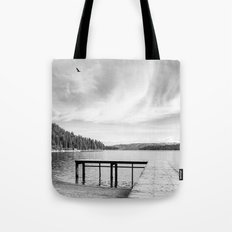 Dock on Lake Tote Bag