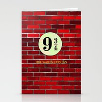 hogwarts Stationery Cards featuring Hogwarts Express by kattie flynn
