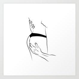 Man Grabs Woman's Ass Art Print