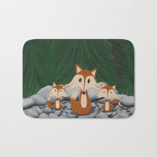 The Fox Family Bath Mat