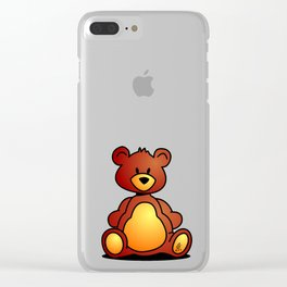 Cuddly Teddy Bear Clear iPhone Case